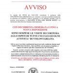 AVVISO IMPORTANTE VISITE DAL 05 MARZO